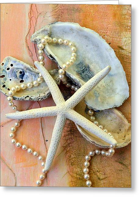 Shell Texture Greeting Cards - Elegant Simplicity Greeting Card by Carla Parris