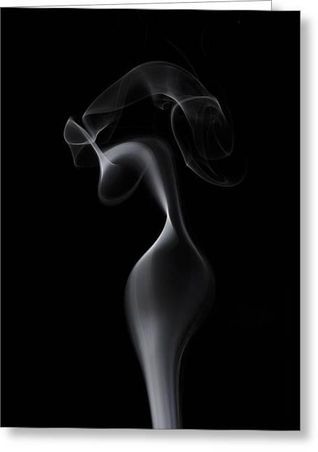 Smoke Art Greeting Cards - Elegant Woman Greeting Card by Bryan Steffy