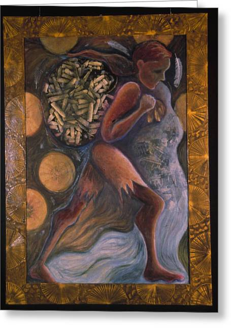 Vodou Greeting Cards - Elegbara at the Crossroads Greeting Card by Barbara Nesin