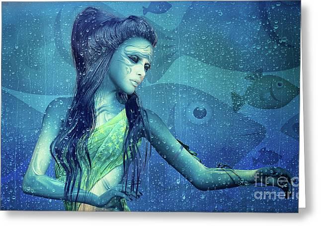 Element Water Greeting Card by Jutta Maria Pusl