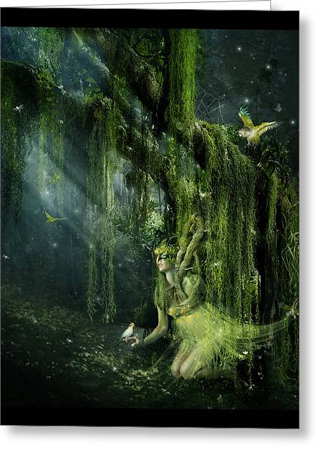 Moss Digital Art Greeting Cards - Elemental Earth Greeting Card by Karen K