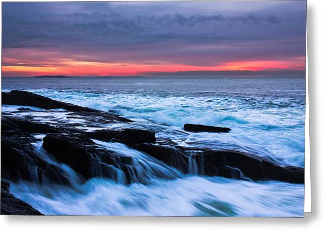 New England Ocean Greeting Cards - Elements Greeting Card by Benjamin Williamson
