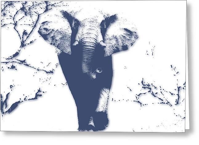 Elephant 3 Greeting Card by Joe Hamilton