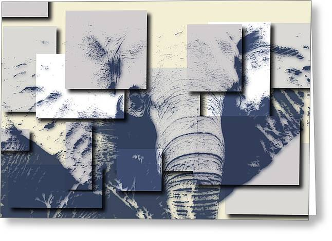 Mount Kilimanjaro National Park Greeting Cards - Elephant 5 Greeting Card by Joe Hamilton