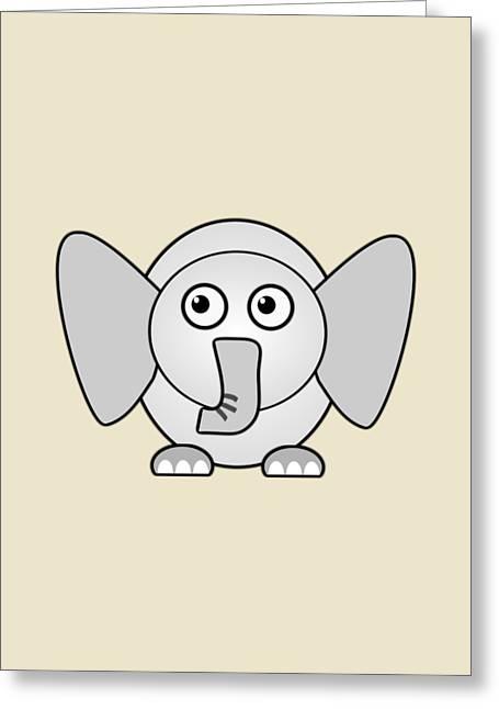 Little Boy Mixed Media Greeting Cards - Elephant - Animals - Art for Kids Greeting Card by Anastasiya Malakhova
