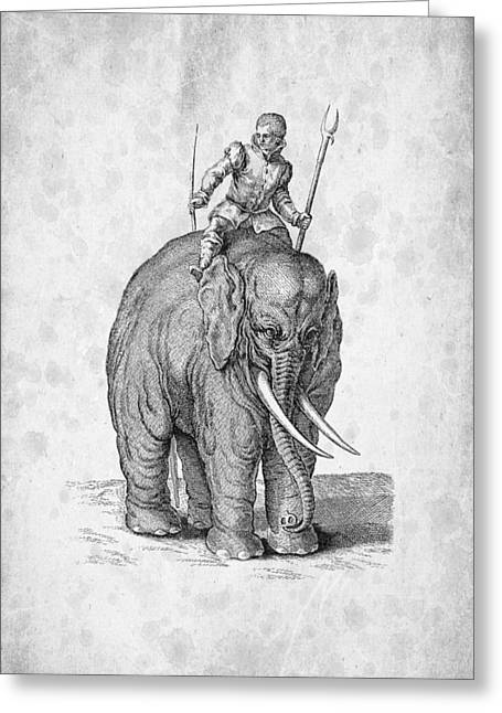 Biology Greeting Cards - Elephant Historiae Naturalis 1657 Greeting Card by Aged Pixel