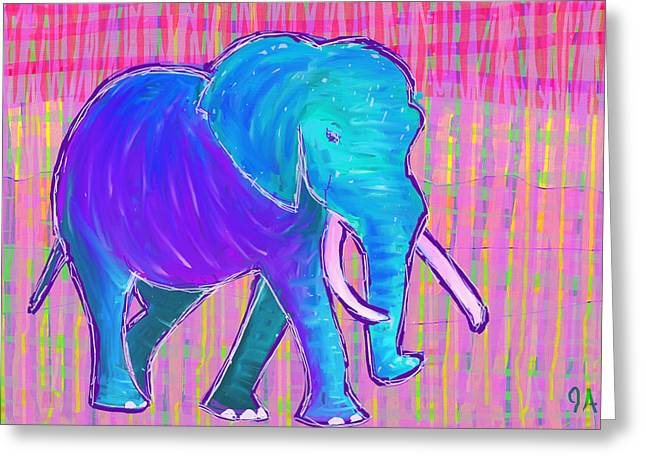 Elephant Greeting Card by Jeremy Aiyadurai