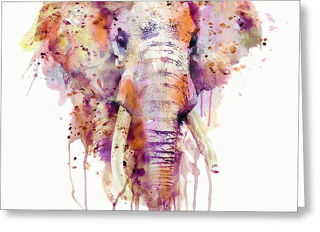 Elephant  Greeting Card by Marian Voicu
