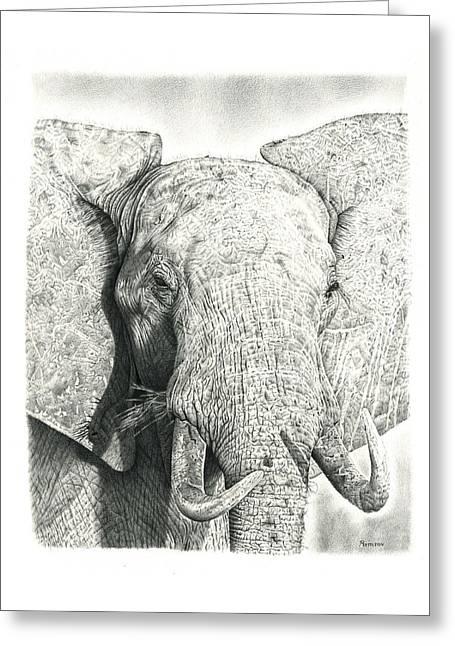 Elephant Greeting Card by Remrov