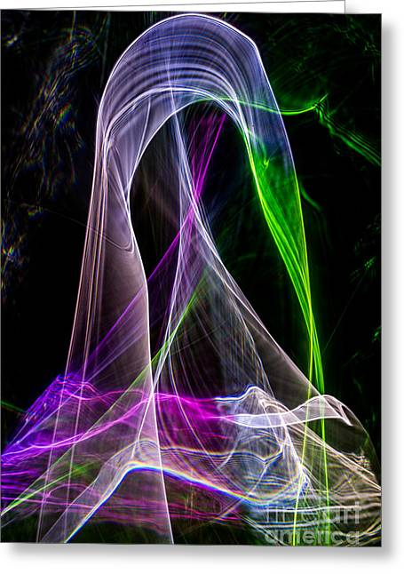 Abstract Digital Photographs Greeting Cards - Eletric Vortex Greeting Card by Francis Oberholzer
