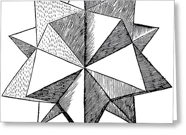 Elevated Solid Icosahedron  Greeting Card by Leonardo da Vinci