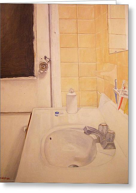 Faucet Paintings Greeting Cards - Eleven Fifty Nine Greeting Card by Nigel Wynter