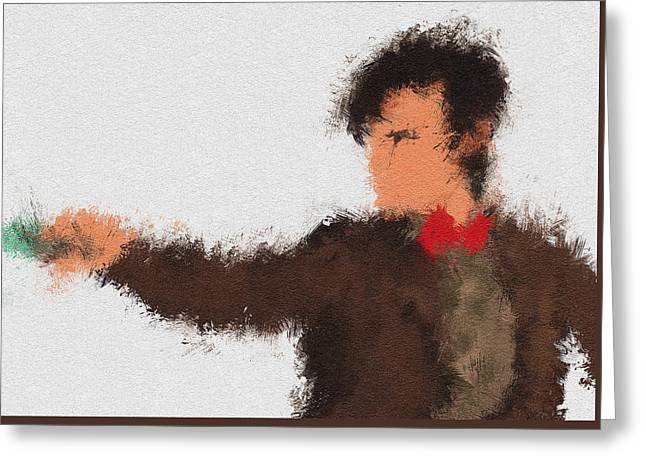 Eleventh Doctor Greeting Card by Miranda Sether