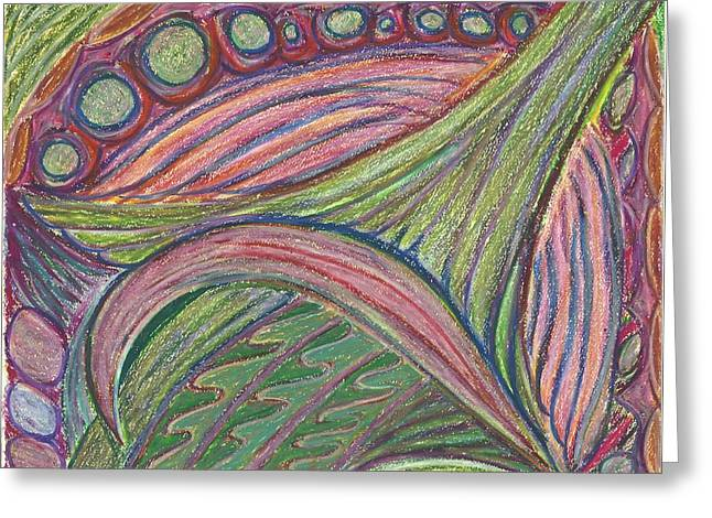 Mandalas Pastels Greeting Cards - Elf Dream Greeting Card by Claudia Cion