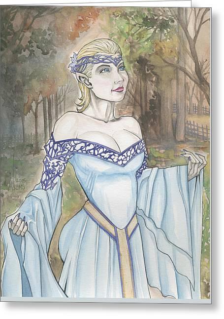 Dress Greeting Cards - Elf LOTR Greeting Card by Jimmy Adams