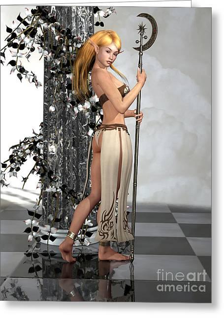 Elf Princess Greeting Card by Alexander Butler