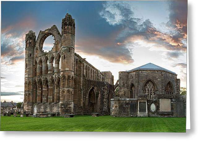 Elgin Cathedral Greeting Card by Jane Rix