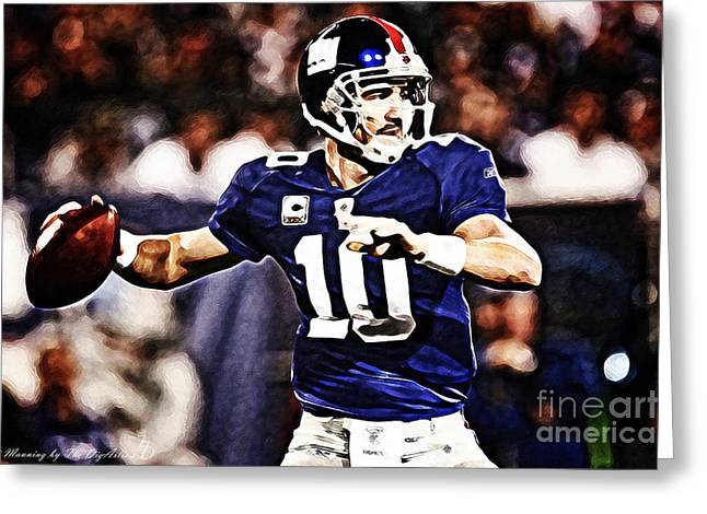 Eli Manning Greeting Card by The DigArtisT