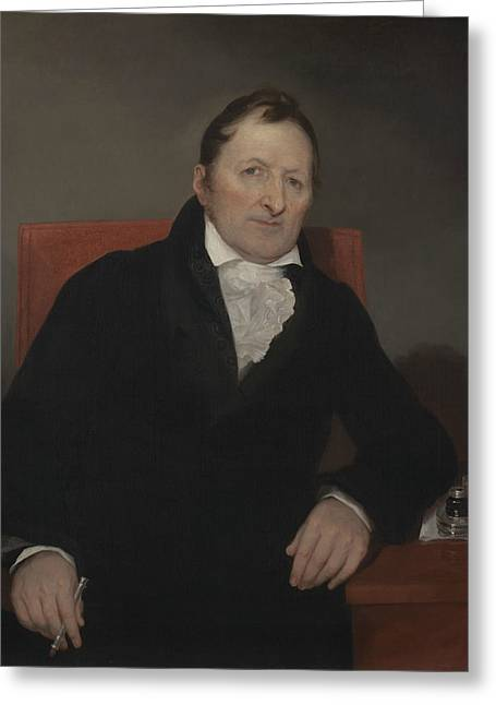 Eli Whitney Greeting Card by Samuel Morse