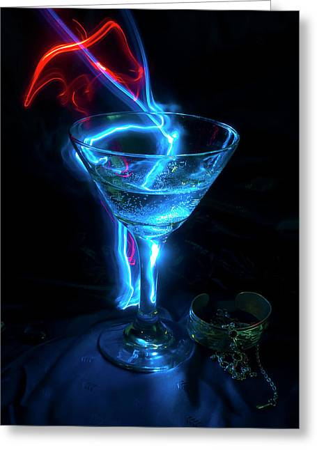 Flash Greeting Cards - Elixir of the Gods Greeting Card by Barbara  White