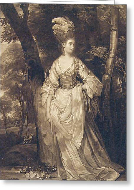 Engraving Greeting Cards - Elizabeth Duchess of Hamilton Brandon and Argyll Greeting Card by John Finlayson