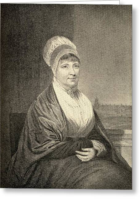 Fries Drawings Greeting Cards - Elizabeth Fry, 1780-1845. English Greeting Card by Ken Welsh