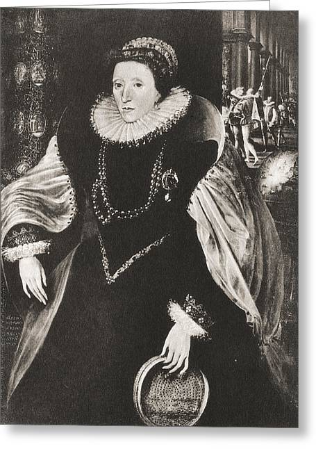 Bess Greeting Cards - Elizabeth I, 1533 Greeting Card by Ken Welsh