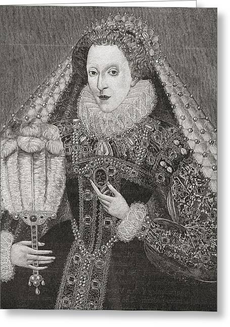 Bess Greeting Cards - Elizabeth I, 1533 To 1603. Queen Of Greeting Card by Ken Welsh