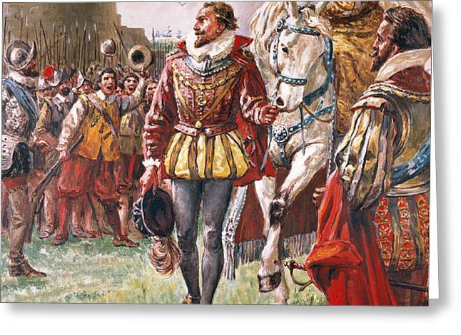 Elizabeth I the Warrior Queen Greeting Card by CL Doughty