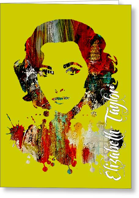 Liz Taylor Greeting Cards - Elizabeth Taylor Collection Greeting Card by Marvin Blaine