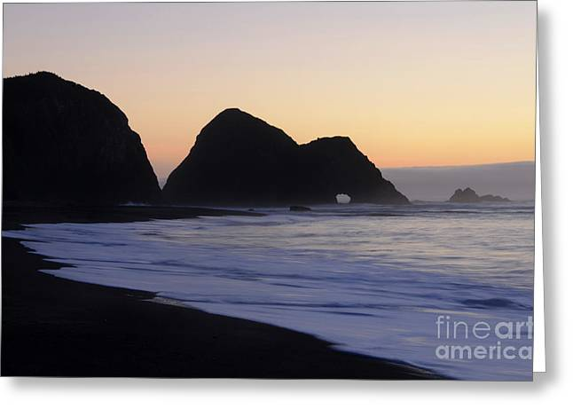 California Ocean Photography Greeting Cards - Elk Beach California Greeting Card by Bob Christopher