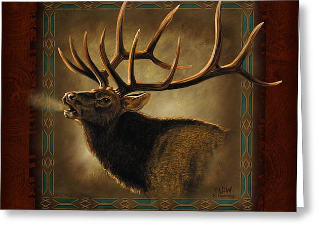Elk Lodge Greeting Card by JQ Licensing