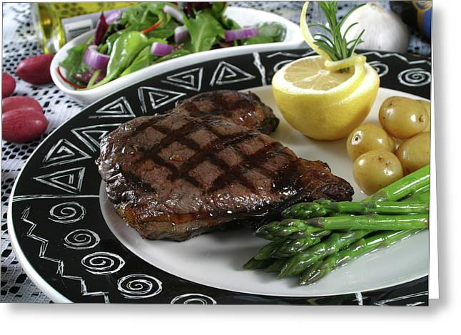 Supper Bowl Greeting Cards - Elk Steak 2 Greeting Card by Jack Dagley