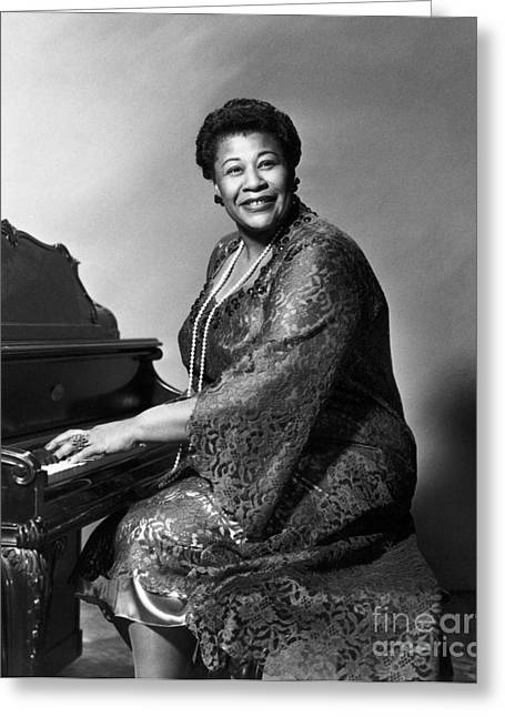 Pianist Photographs Greeting Cards - Ella Fitzgerald (1917-1996) Greeting Card by Granger