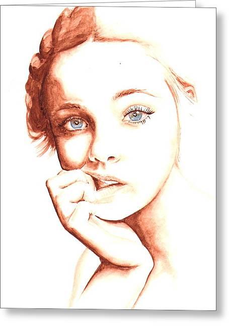Elle Greeting Card by Karl Opanowicz
