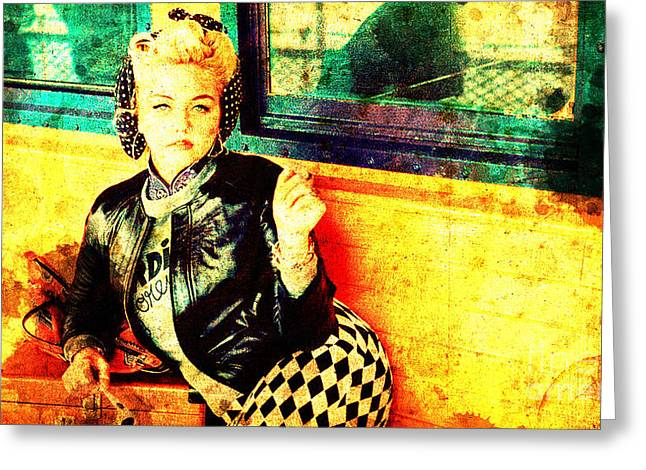 Elle King Greeting Card by Pablo Franchi