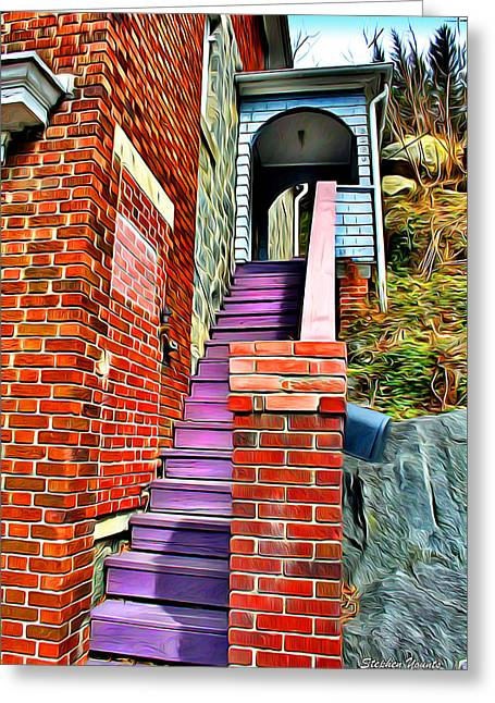 Ellicott Greeting Cards - Ellicott City Steps Greeting Card by Stephen Younts