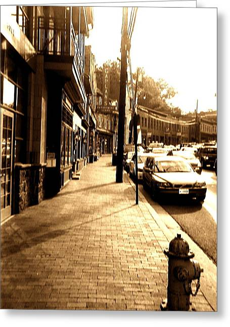 Ellicott Greeting Cards - Ellicott City Street Greeting Card by Utopia Concepts