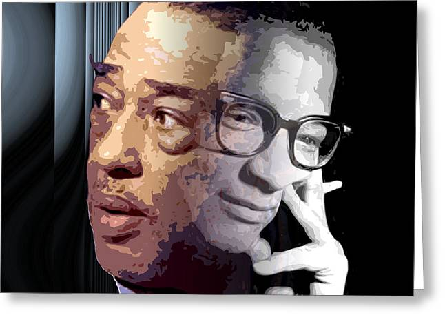 Lyrist Greeting Cards - Ellington and Strayhorn Greeting Card by Walter Oliver Neal