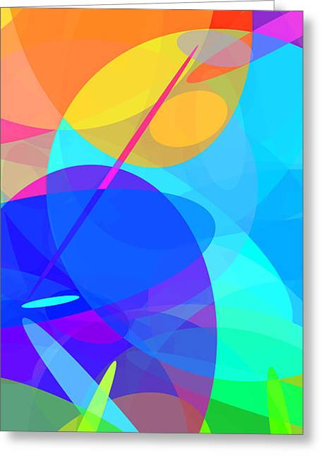 Ellipses 15 Greeting Card by Chris Butler