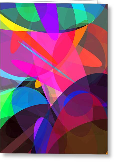 Ellipses 4 Greeting Card by Chris Butler