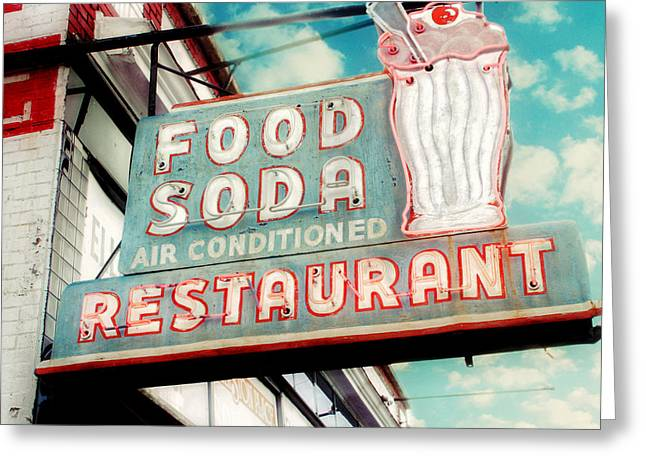Old Restaurants Greeting Cards - Elliston Place Soda Shoppe - Square Crop Greeting Card by Amy Tyler