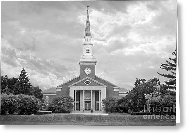 Christs Birthday Greeting Cards - Elmhurst College Hammerschmidt Chapel Greeting Card by University Icons