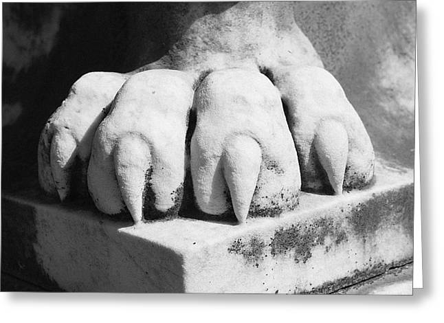 Elmwood Cemetery - Lions Paw Greeting Card by Jon Woodhams
