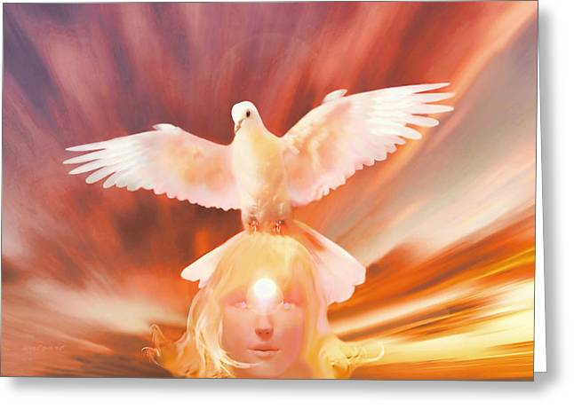 Kelly Greeting Cards - Elohim Greeting Card by Valerie Anne Kelly