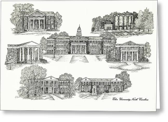 Bryant Greeting Cards - Elon University Greeting Card by Jessica  Bryant