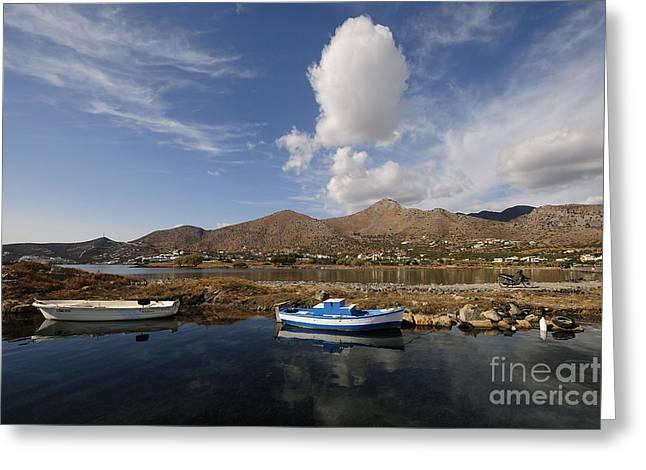 Elounda, Crete Greeting Card by Stephen Smith