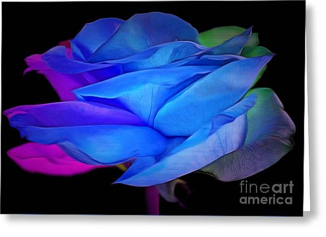 Rose Petals Greeting Cards - Elusive Romance Greeting Card by Krissy Katsimbras