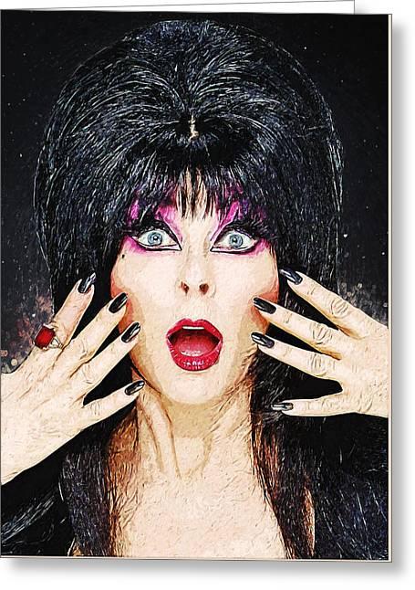 Elvira - Mistress Of The Dark Greeting Card by Taylan Soyturk