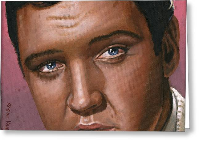 Presley Greeting Cards - Elvis 24 1962 Greeting Card by Rob De Vries